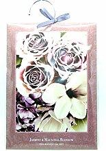 Groß, 60g Jasmin & Magnolia Blossom–Duft Kleiderschrank Kleiderbügel–Double Duftsachet in–Sweet Pea & Freesie