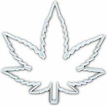 Groß Cannabis Leaf Ganjas Hanf Pflanze Form
