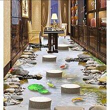 Groß Fototapete Stein 3D Bodenbelag Tapeten Für