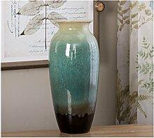 Groß Keramiken Vase Blumenvase Dekoration (Grün)
