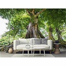Groß Tapete Für Schlafzimmer Wände Wald Grün
