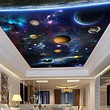 Große 3D-FotoTapete Space Planet Decke Fresko