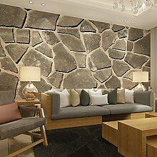 Große 3D Wallpaper Wandmalerei Einfache Nahtlose Wohnzimmer Schlafzimmer TV Hintergrund Tapete Grau Unregelmäßiger Stein Hintergrund Wal XL XXL XXXL , xl