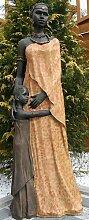 Große Afrikanische Frau mit Kind 100cm Massai Afrika