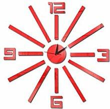 Große Anzahl gespiegelte Aufkleber Uhr DIY Acryl