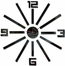 Große Anzahl gespiegelte Aufkleber Uhr DIY Acryl Wandspiegel Decals Removable Home Dekoration Tapete LUFA