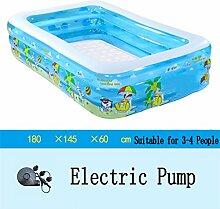 Große aufblasbare Badewanne / Pool-Paddel-Pool Sea Ball Pool für Kinder / Baby / Familie mit Elektropumpe Geeignet für 3-4 Personen (180 * 145 * 60cm)