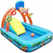 Große aufblasbare Badewanne / Pool Paddling Pool Meer Ball Pool für Kind / Baby / Familie mit Elektropumpe (188 * 137 * 34cm)