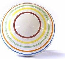 Große bunte gestreift Keramik Möbel Porzellan Schrank Türknauf Schublade ziehen Schrank Griff
