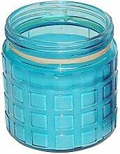 Große Citronella Anti-Mücken- Kerze im Glas Blau