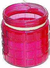 Große Citronella Anti-Mücken- Kerze im Glas Pink