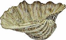 große Dekomuschel RIVIERA - 28 cm - aus Poly - Muschel - Gartendeko - Figur - maritim