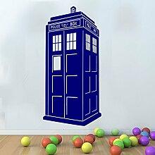 Große DR DOCTOR WHO TARDIS Serie Wandbild Art Wand gratis Rakel Kinder, dunkelblau, Large - 120cm H x 58cm W