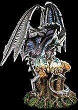 Große Drachenfigur - Behütet Nest mit Jungen