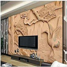 Große Frische Große Holzschnitzerei Kran Cool Tv