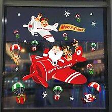 Große Frohe Weihnachten Wandaufkleber Fenster