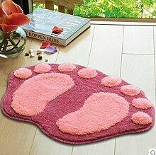 Große Füße Dekoration Mats Fußmatte im Badezimmer Matte Schlafzimmer Teppiche