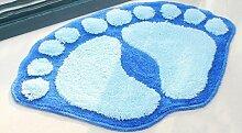 Große Füße saugfähige Matten Fußmatte Badematte Badezimmermatte Küche Schlafzimmer Toilette Matte ( farbe : 7# , größe : 40x60cm )