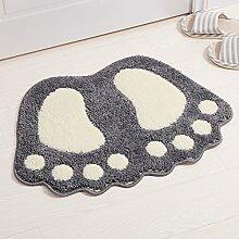 Große Fußmatte/Einlass der Wohnzimmer-Schlafzimmer-Matten/Fußpolster/Rutschfeste Badematte/Cartoon grüne Matte-D 48x67cm(19x26inch)