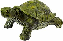 Große Garten Deko Figur Grüne Schildkröte