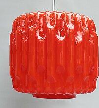 Große Glas Hängelampe, 1960er