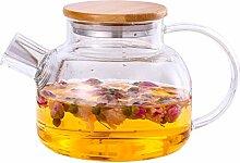 Große Glas Teekanne Borosilikat Mehrzweck für