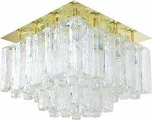 Große Granada Eisglas Einbau- Deckenleuchte von