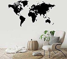 Große Größe Vinyl Art Decal Weltkarte Global