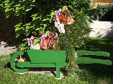 Große Holz-Schubkarre zum Bepflanzen,