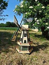 Große Holz-Windmühle wetterfest, kugelgelagerte
