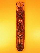 große Holzmaske handgeschnitzt handbemahlt 100 cm