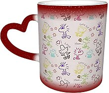 Große Kaffeetasse, Woodstock und Snoopy Design,