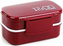 Große Kapazität 1400 ml zweischichtige Lunchbox