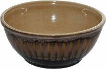 große Keramik - Schüssel, wunderschöne Geschenkidee,Farbe: braun mit Lauflasur, sächsische Keramik, Maße: 27cm im Durchmesser ca. 11,5 cm hoch Made in Germany