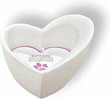 Große Kerze Kerzentopf Herz - Herzform - Hochzeit