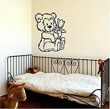 Große Kindergarten Bär Baby Wandkunst Schablone