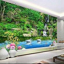 Große kundenspezifische Tapete Aoyama Green Water