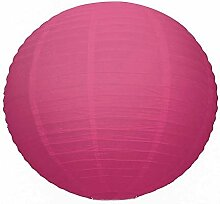 Große Laterne Steinlampe Papier rosa fuchsia,
