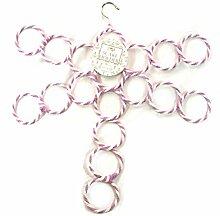 Große lila weiß gestreift Libelle Kleiderbügel für Schals, Gürtel, Krawatten etc., Kleiderschrank Veranstalter