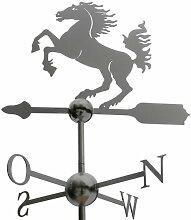 Große Linneborn Pferd Wetterfahne aus Edelstahl