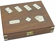 Große Maritime Spiele Box mit Domino, Tarot,