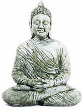 Große meditierende Steinbuddhastatue, Gartendeko