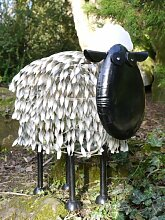 Große Metall Garten Schaf Skulptur