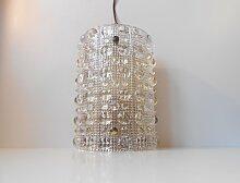 Große Mid-Century Kristall Wandlampe von Carl