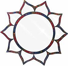 Große Mosaik handgefertigt buntes Glas Spectrum Lotus Design Wand montiert Spiegel 54cm, blau, violett, pink, rot spectrum