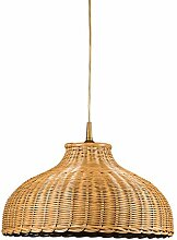 Große Pendelleuchte Korbleuchte honig-farbig Korblampe Pendellampe Landhausstil Helios Leuchten