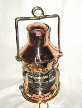 Große Petroleumlampe- Schiffslampe aus Kupfer und Messing