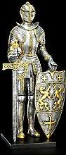 Große Ritter Figur mit Schwert und Schild -