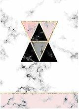 Große Rosa Dreieck Rutschfeste Boden 200 × 300Cm
