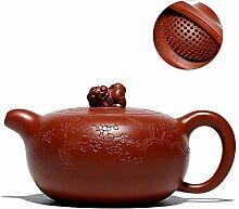 Große rote Teekanne von GMXCC (Farbe: rot)